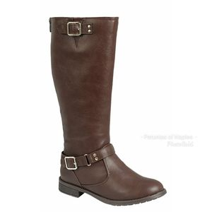 Brown Motorcycle Boot
